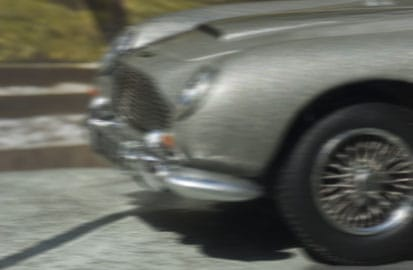 James Bond crasht, De Aston Martin DB5 uit Goldfinger
