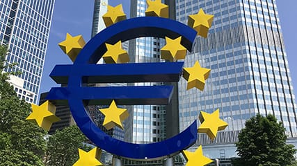 De Europese Centrale Bank in Frankfurt