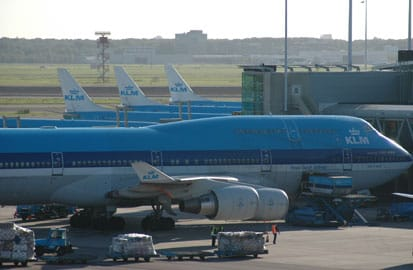 Oprichting van de KLM, Vliegtuigen van de KLM op Schiphol