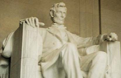 Abraham Lincoln, Het Abraham Lincoln memorial in Washington DC