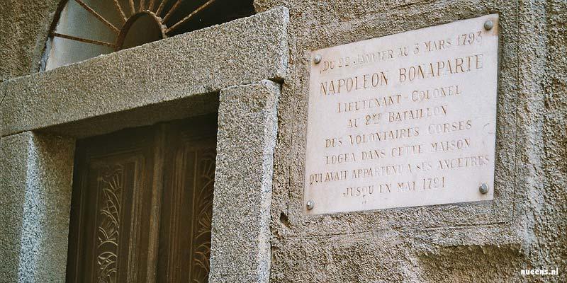 Het huis van Napoleon in Ajaccio op Corsica