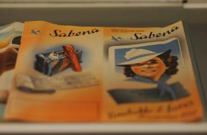 Oprichting van Sabena, Brochure van Sabena in het Aviodrome in Lelystad