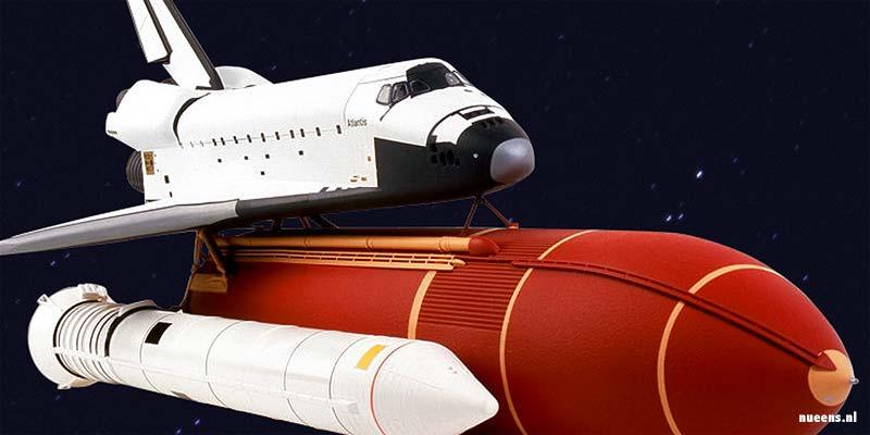 De Space Shuttle Atlantis, het zusje van de Columbia