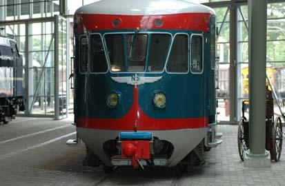 Opening van het Spoorwegmuseum, De 'Blauwe Engel' in het Spoorwegmuseum van Utrecht
