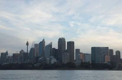 Rode stofstorm treft Sydney, Sydney op een zonnige dag