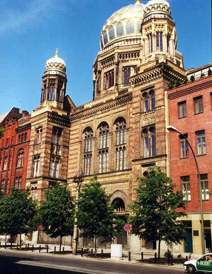 De Kristallnacht, Synagoge in Berlijn