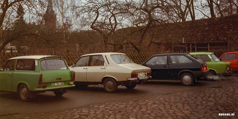 Oude Trabantjes in Oost-Berlijn, nog voor de Val van de Muur