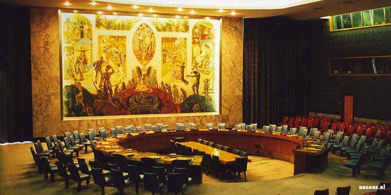 Het gebouw van de Verenigde Naties in New York