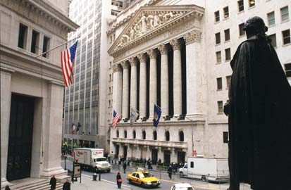 Begin crisisjaren, Wall Street in New York, het economische centrum van Amerika