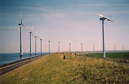 Het grootste windmolenpark, Windmolens